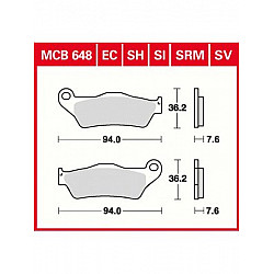 Мото накладки TRW MCB648SRM