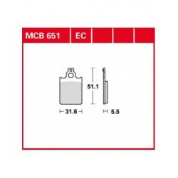 Мото накладки TRW MCB651