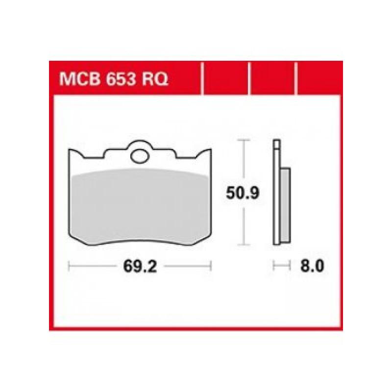 Мото накладки TRW MCB653RQ