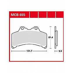 Мото накладки TRW MCB655