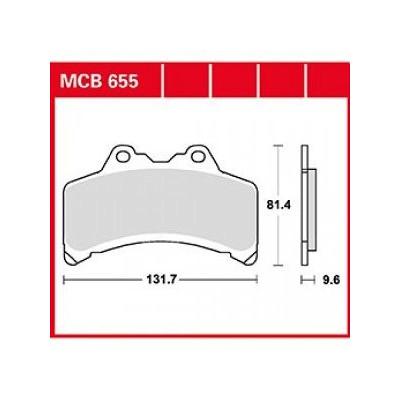 Мото накладки TRW MCB655 thumb