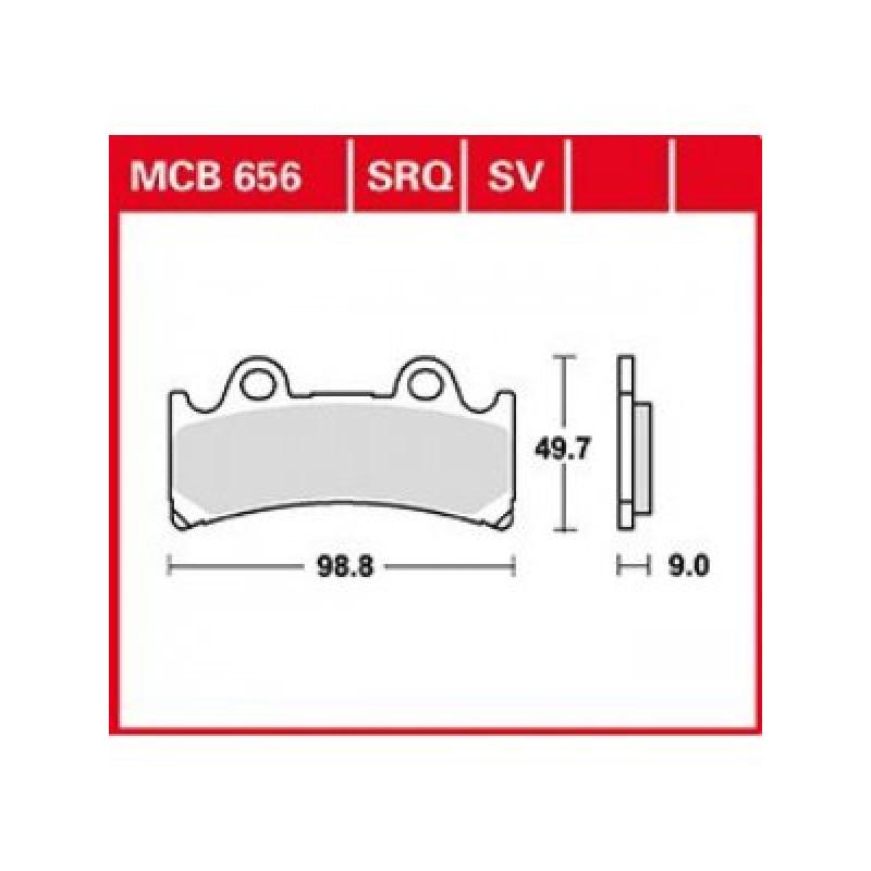 Мото накладки TRW MCB656SV thumb