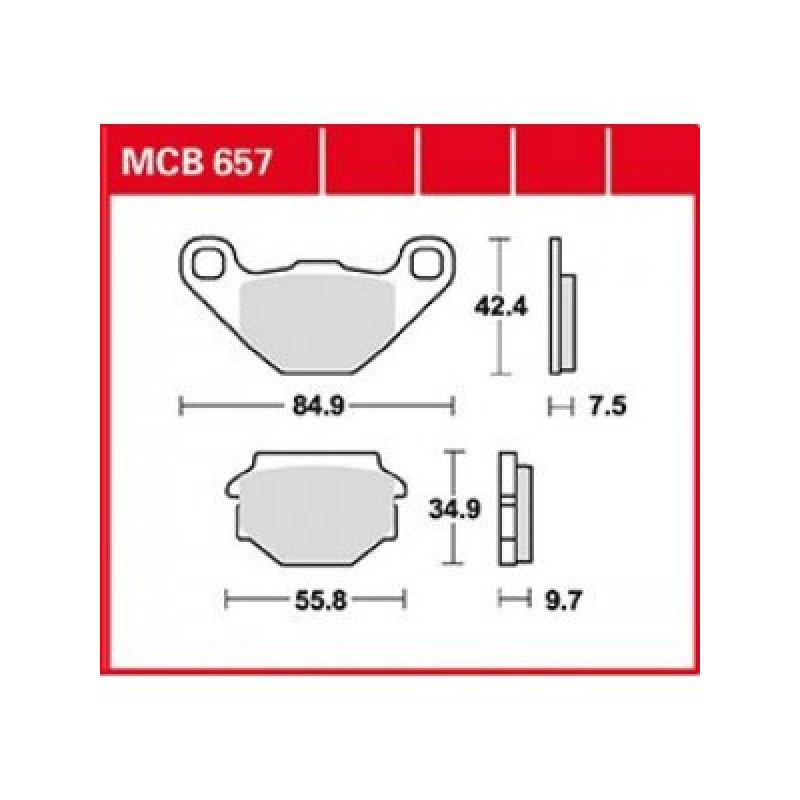 Мото накладки TRW MCB657