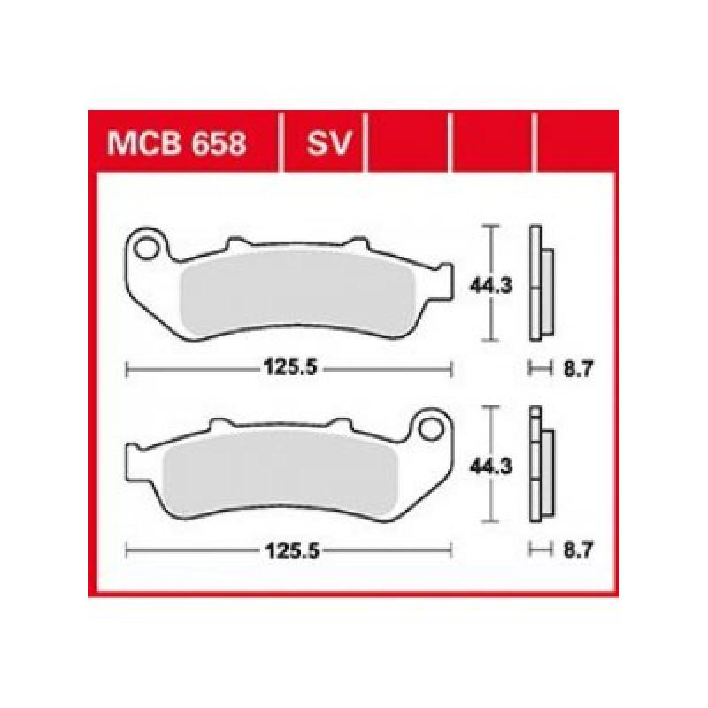 Мото накладки TRW MCB658SV thumb