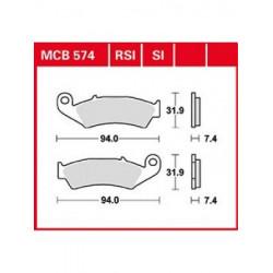 Мото накладки TRW MCB574SI