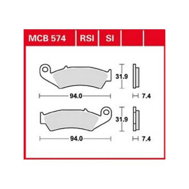 Мото накладки TRW MCB574SI thumb