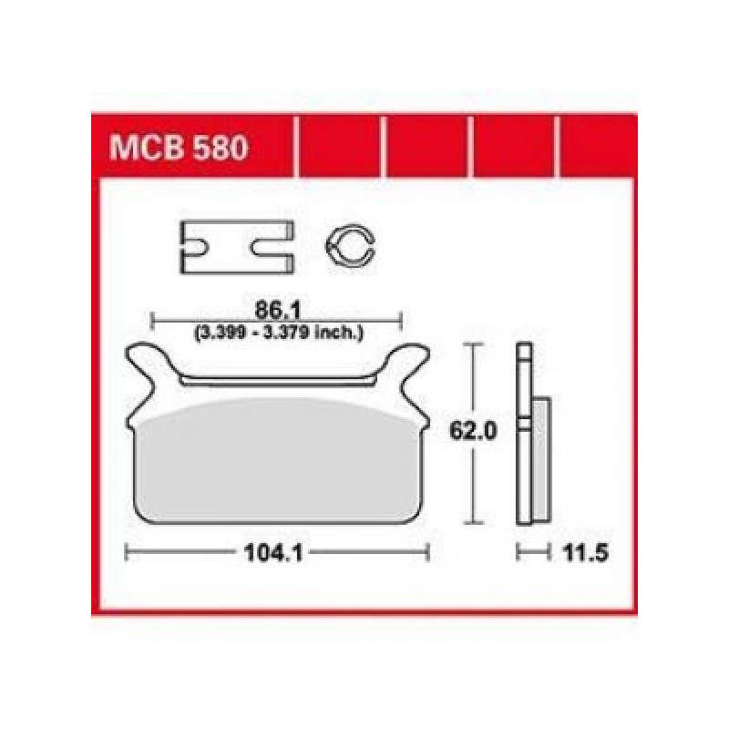 Мото накладки TRW MCB580 thumb