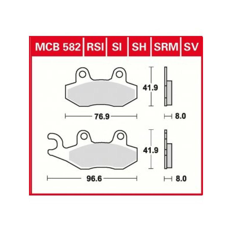 Мото накладки TRW MCB582SI thumb