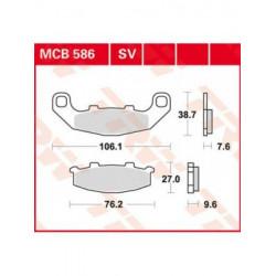 Мото накладки TRW MCB586SV