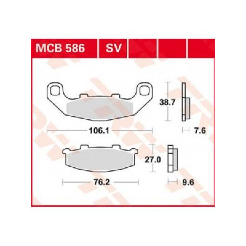 Мото накладки TRW MCB586SV thumb