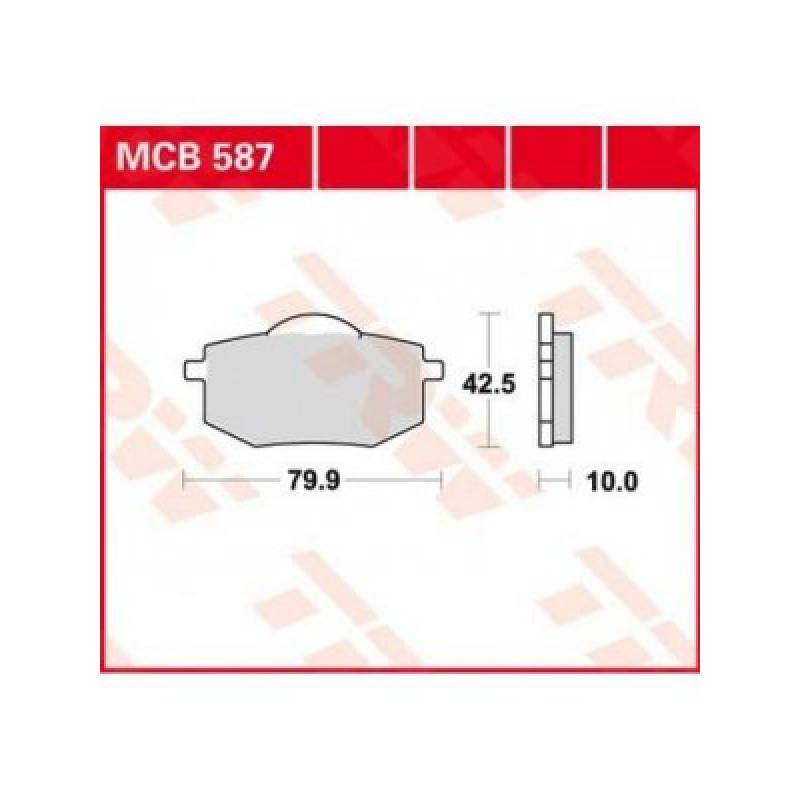 Мото накладки TRW MCB587 thumb