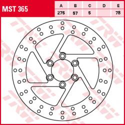 ЗАДЕН СПИРАЧЕН ДИСК TRW-LUCAS MST365