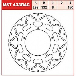 ЗАДЕН СПИРАЧЕН ДИСК TRW-LUCAS MST433RAC