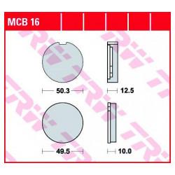 Мото накладки TRW MCB16
