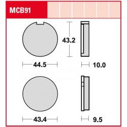Мото накладки TRW MCB91