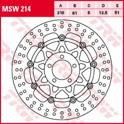 ПРЕДЕН СПИРАЧЕН ДИСК TRW-LUCAS MSW214