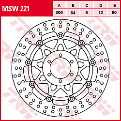 ПЛАВАЩ ПРЕДЕН СПИРАЧЕН ДИСК TRW-LUCAS MSW221
