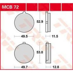 Мото накладки TRW MCB72
