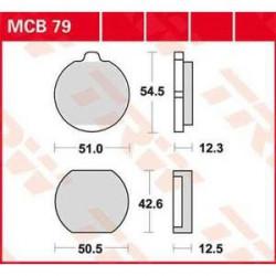 Мото накладки TRW MCB79