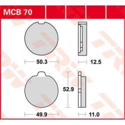 Мото накладки TRW MCB70