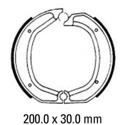 Задни мото накладки FERODO FSB700