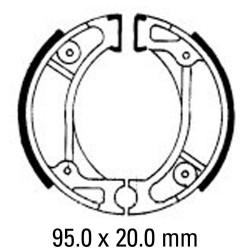 Предни/Задни мото накладки FERODO FSB714