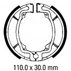 Предни/Задни мото накладки FERODO FSB722