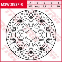 ПЛАВАЩ ПРЕДЕН СПИРАЧЕН ДИСК TRW-LUCAS MSW288SP-R