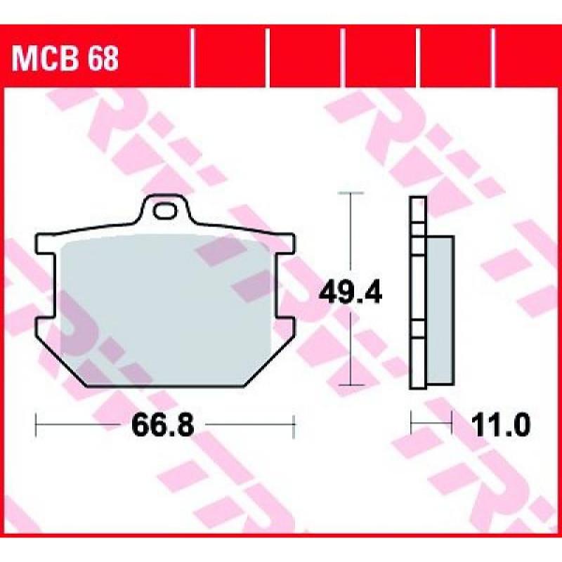Мото накладки TRW MCB68