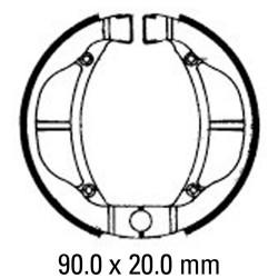 Предни/Задни мото накладки FERODO FSB802
