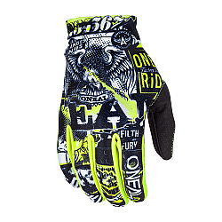 Детски мотокрос ръкавици O'NEAL MATRIX ATTACK  BLACK/HI-VIZ
