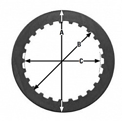 Метален диск за съединител TRW MES343-6
