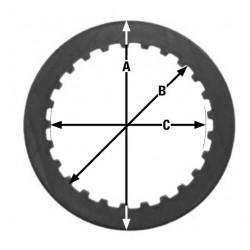 Метален диск за съединител TRW MES365-8