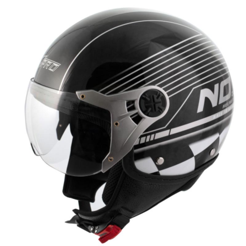 Скутер каска A-PRO FIFTY NINE GRAPHIC BLACK/SILVER