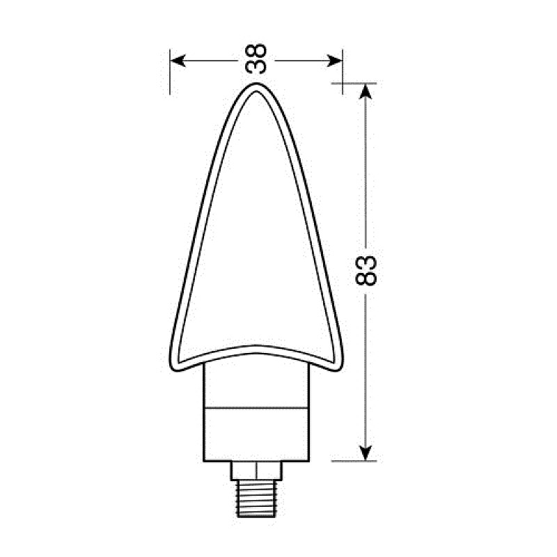 LED мигачи SPIKE BLACK - 90086 thumb