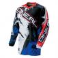 Мотокрос блуза O'NEAL ELEMENT SHOCKER BLACK/BLUE/ RED
