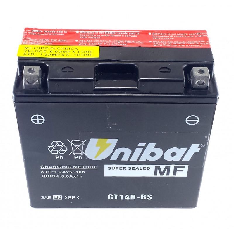 Акумулатор за мотор Unibat 12 Ah, 12 V - CT14B-BS thumb