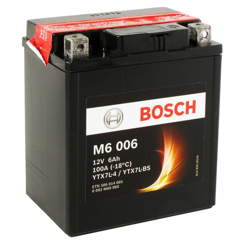 Мото акумулатор Bosch М6 6 Ah, 12 V, YTX7L-BS