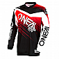 Мотокрос блуза O'NEAL ELEMENT RACEWEAR BLACK/RED 2