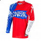 Мотокрос блуза O'NEAL ELEMENT BURNOUT RED/WHITE/BLUE