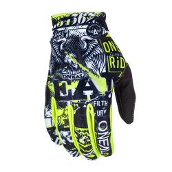 Мотокрос ръкавици O'NEAL MATRIX ATTACK BLACK/HI-VIZ