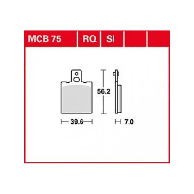 Мото накладки TRW MCB75 thumb