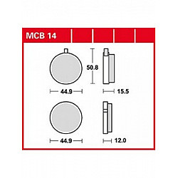 MOTO Накладки TRW MCB14