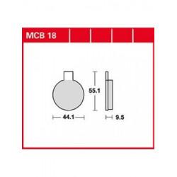 MOTO Накладки TRW MCB18