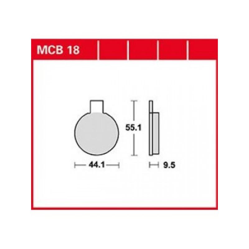Мото накладки TRW MCB18 thumb
