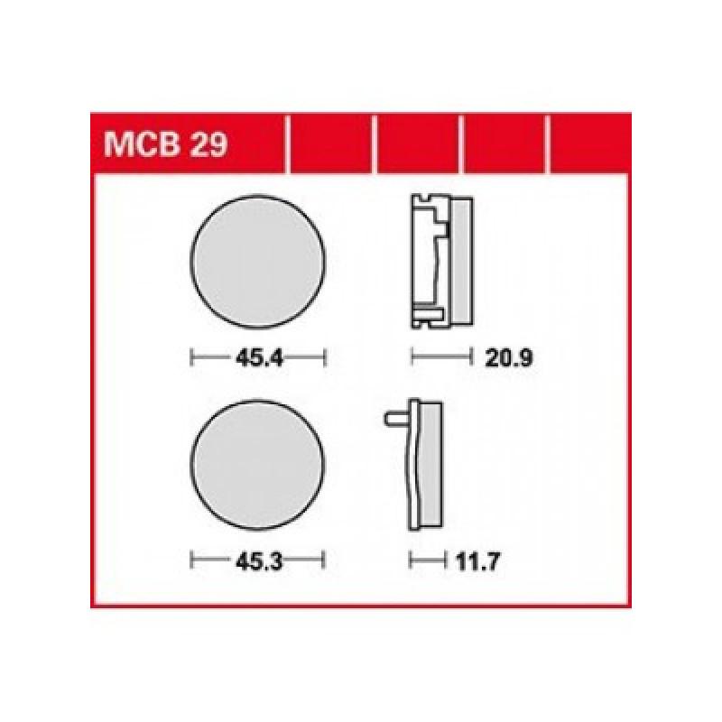 Мото накладки TRW MCB29 thumb