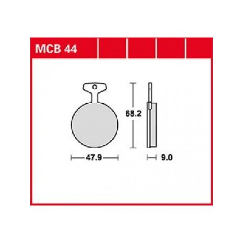 Мото накладки TRW MCB44 thumb