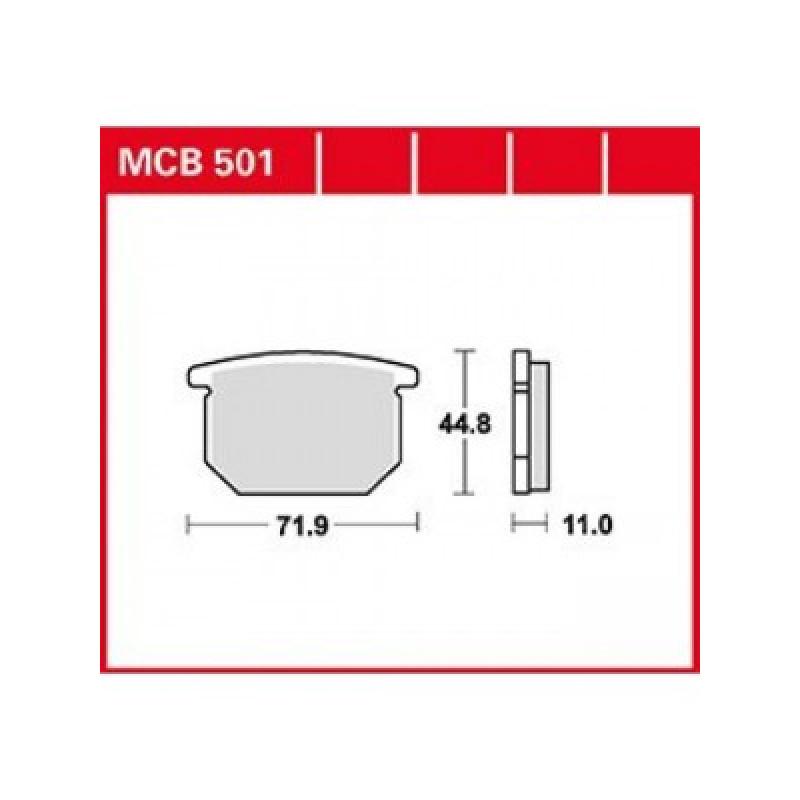 Мото накладки TRW MCB501 thumb