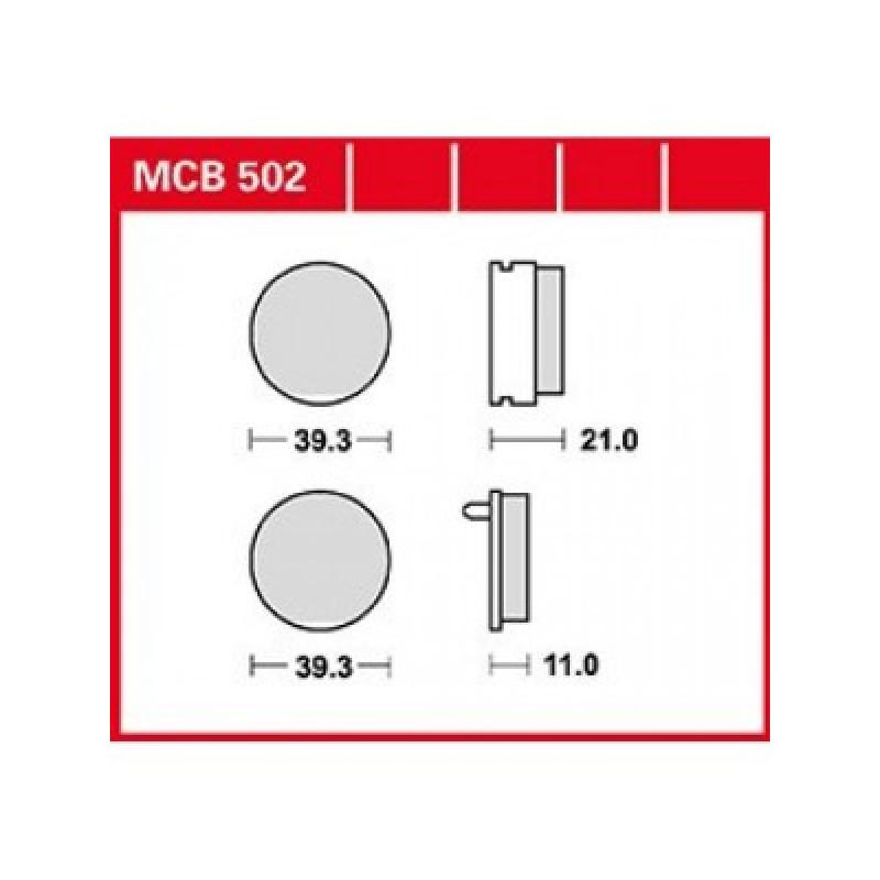 Мото накладки TRW MCB502 thumb