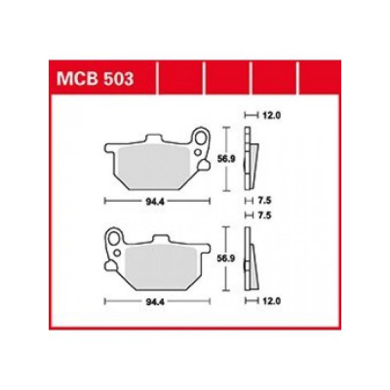 Мото накладки TRW MCB503